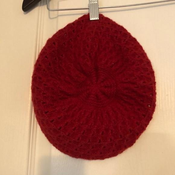 Aritzia Red Knit Beret